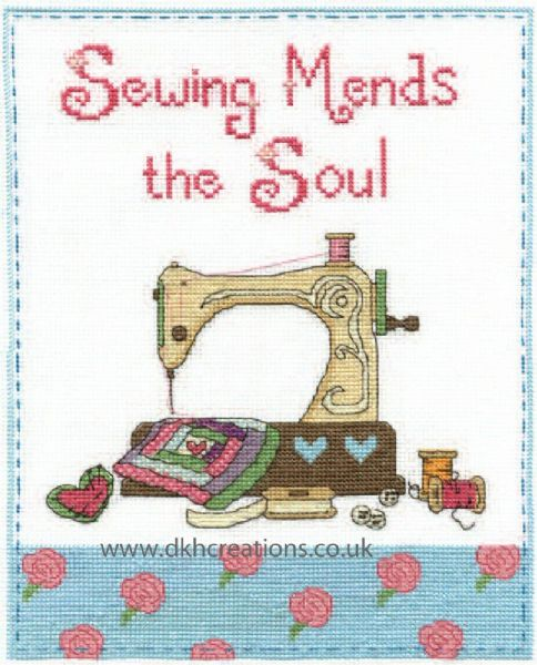 Sewing Mends The Soul Cross Stitch Kit